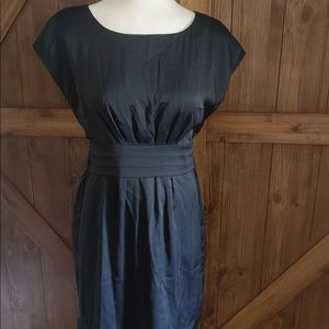 Black tied shift style dress
